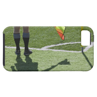 Soccer referee holding flag. iPhone 5 cover
