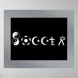 Soccer Religion Poster