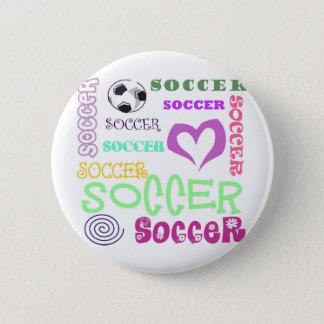 Soccer Repeating 6 Cm Round Badge