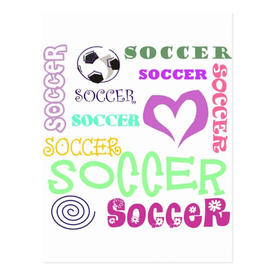 Soccer Repeating Postcard