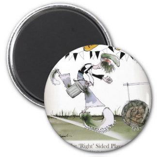 soccer right winger black + white kit magnet