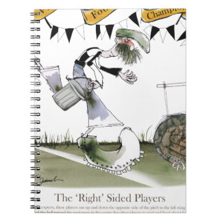 soccer right winger black + white kit notebook
