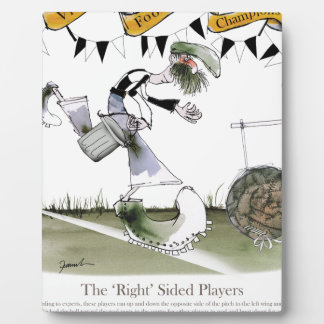soccer right winger black + white kit plaque