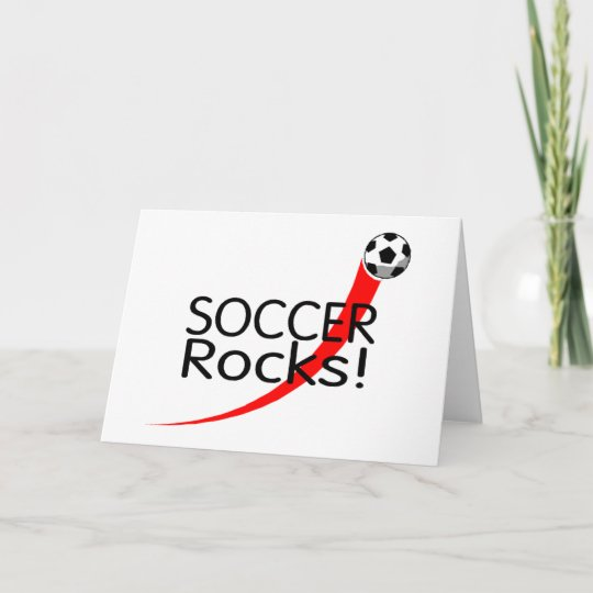 Soccer Rocks Christmas Card