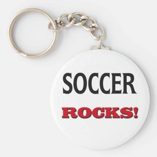 Soccer Rocks Key Chain