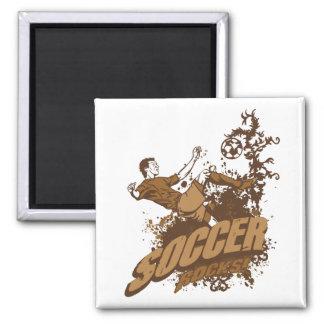 Soccer Rocks! Square Magnet