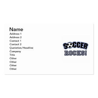 Soccer Rocks T shirts and Gifts Double-Sided Standard Business Cards (Pack Of 100)
