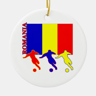Soccer Romania Christmas Ornament