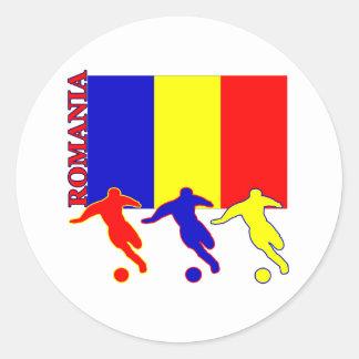Soccer Romania Classic Round Sticker