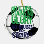 Soccer Round Ceramic Decoration