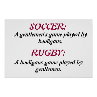 SOCCER & RUGBY. POSTER
