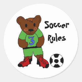 Soccer Rules Round Sticker