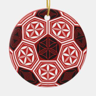 soccer sacred geometry christmas ornament