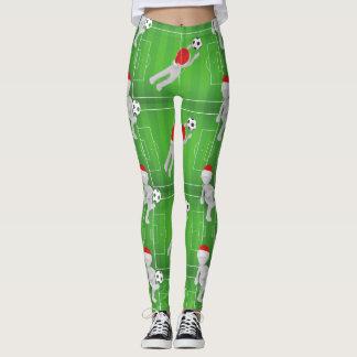 soccer santa leggings