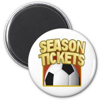 Soccer Season Tickets Fridge Magnets