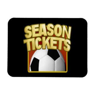 Soccer Season Tickets Vinyl Magnets