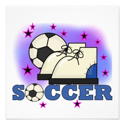 Soccer Shoes and Ball T-shirts and Gifts Announcement
