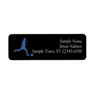 Soccer Silhouette Return Address Label