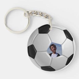 Soccer Single-Sided Round Acrylic Key Ring