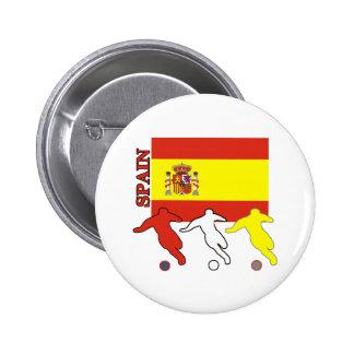Soccer Spain 6 Cm Round Badge
