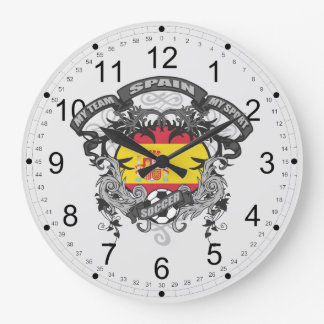 Soccer Spain Large Clock