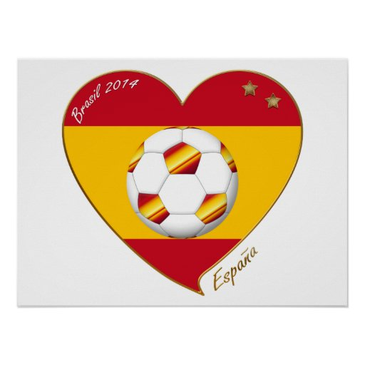 """SOCCER """"SPAIN"""" Spain Spanish Football Soccer Team Poster"""