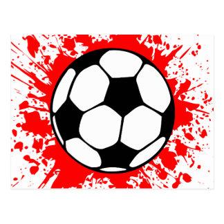 soccer splat. postcard