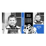 Soccer Sport Schedule Custom Photo Card