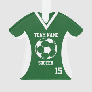 Soccer Sports Jersey Green with Photo