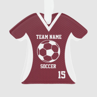 Soccer Sports Jersey Maroon with Photo
