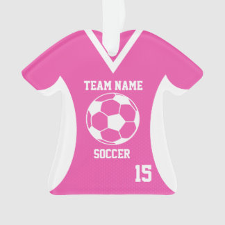 Soccer Sports Jersey Pink with Photo