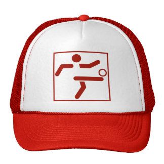 Soccer Sports Pictogram Hat