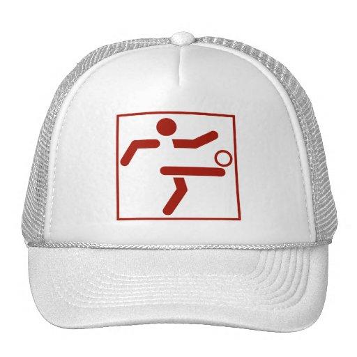 Soccer Sports Pictogram Mesh Hat