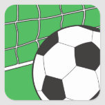 Soccer Square Stickers