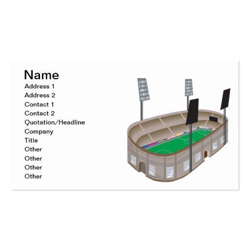 Soccer Stadium Business Card