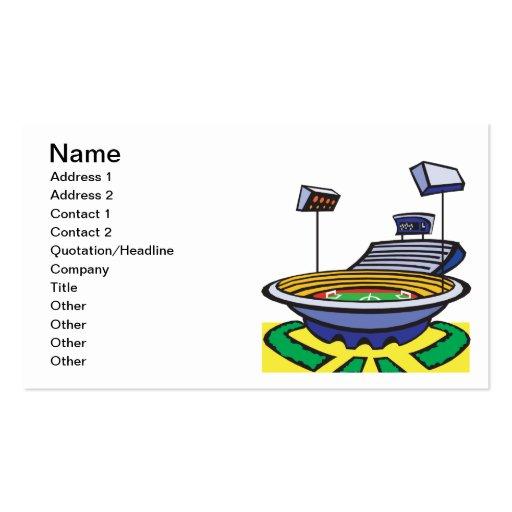 Soccer Stadium Business Card Templates