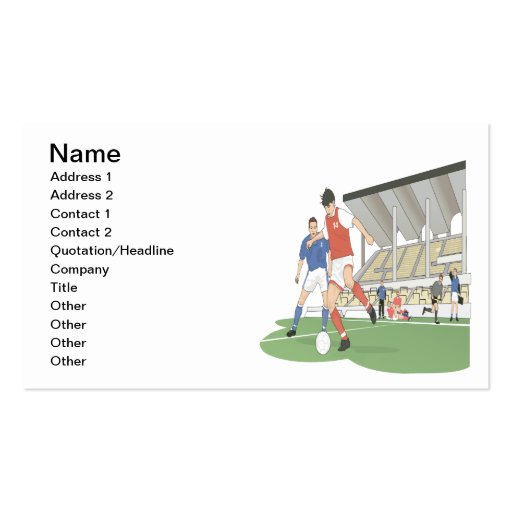 Soccer Stadium Business Cards
