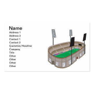 Soccer Stadium Pack Of Standard Business Cards