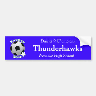 Soccer Star Bumper Sticker