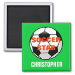 Soccer Star Personalised Magnet