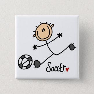 Soccer Stick Figure Button