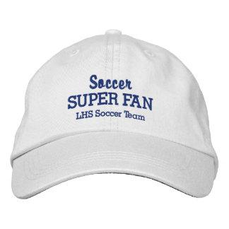 Soccer Super Fan Custom High School Sports Team Embroidered Baseball Caps