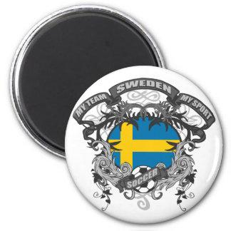 Soccer Sweden Refrigerator Magnet
