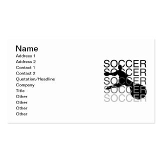 SOCCER T-shirts and Gifts Double-Sided Standard Business Cards (Pack Of 100)