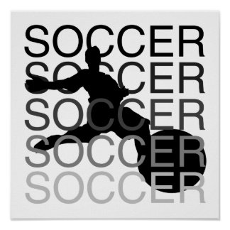 SOCCER T-shirts and Gifts Poster