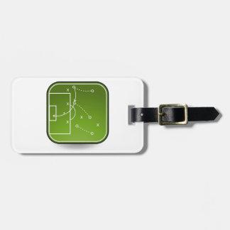 Soccer tactics board luggage tag
