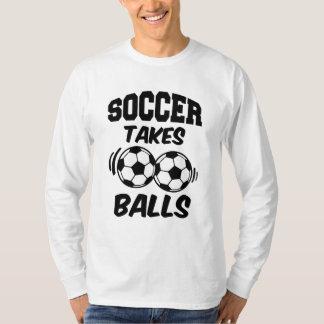 Soccer Takes Balls funny men's shirt