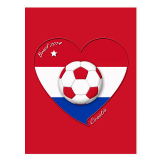 "Soccer Team ""CROATIA"". Soccer of the Croatia 2014 Postcard"