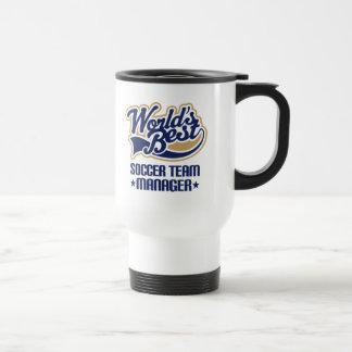 Soccer Team Manager Gift Stainless Steel Travel Mug