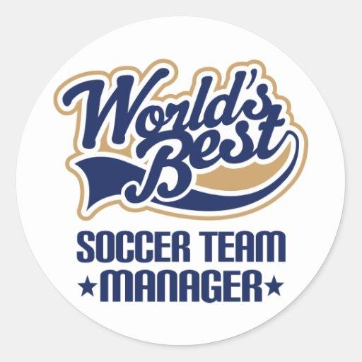 Soccer Team Manager Gift Round Sticker